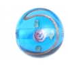 Glass Lamp Bead 14mm Round Blue/Rose